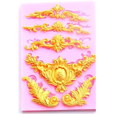 Bakeware verktøy silica Gel baking Tool / Kreativ Kjøkken Gadget Dagligdags Brug 3D Cake Moulds 1pc