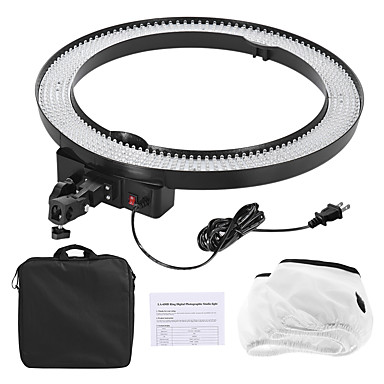 Andoer LA-650D 5500K 40W Ring Digital Photographic Studio Light with 600LED Lights Stepless Adjustment W/ Soft Cloth and Bag
