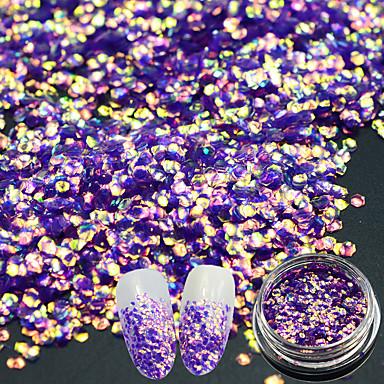 Glitter Powder Paljetter DIY Utstyr Blits 3D Klassisk Glamour Skinnende Høy kvalitet Daglig Nail Art Design