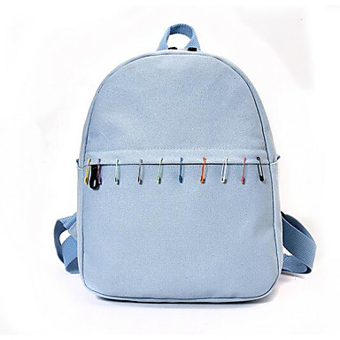Women's Bags Canvas Backpack for Casual All Seasons Blue Black Yellow