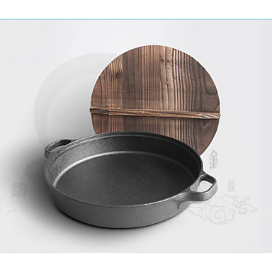 1 Piece/ Cast iron pot 35cm Flapjack thickened non stick frying pan