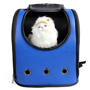 Gato Cachorro Tranportadoras e Malas Animais de Estimação Transportadores Portátil Respirável Sólido Azul Rosa claro