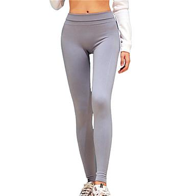 Dame sport Ensfarget Tights / Leggings / Bunner Yoga & Danse Sko, Pilates, Trening & Fitness Sportsklær Fort Tørring Høy Elastisitet