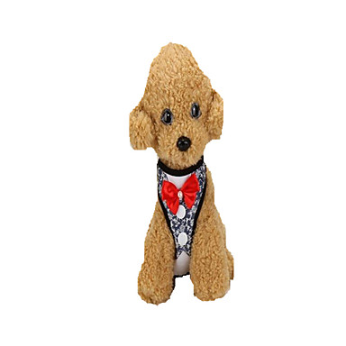 Cachorro Arreios Trelas Portátil Dobrável Ajustável Segurança Príncipe Laço Tecido Azul Ouro Rose
