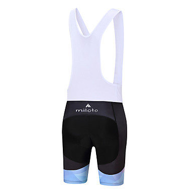 Miloto Women's Cycling Bib Shorts Bike Bib Shorts / Padded Shorts / Chamois / Bottoms Polyester, Spandex White / Black Bike Wear