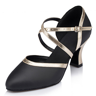 Women's Modern Faux Leather Sandal Performance Criss-Cross Stiletto Heel Black 3