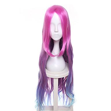Synteettiset hiukset Peruukit Runsaat laineet Liukuvärjätyt hiukset Suojuksettomat Cosplay-peruukki Pitkä Violetti