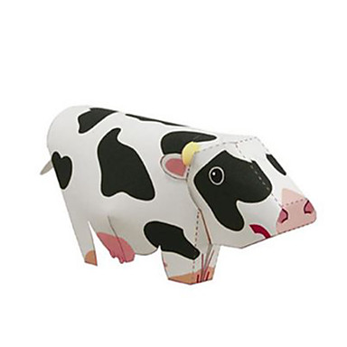 Quebra-Cabeças 3D Maquetes de Papel Cow Animais Faça Você Mesmo Cartão de Papel Duro Crianças Unisexo Dom