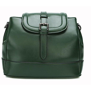 Women Shoulder Bag Cowhide All Seasons Casual Outdoor Round Zipper Green Red Brown
