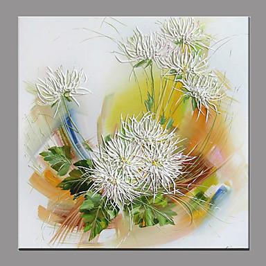Pintura a Óleo Pintados à mão - Floral / Botânico Moderno / Contemporâneo Tela de pintura