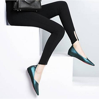 Women's Shoes Real Leather Spring Summer Comfort Flats For Casual Black Silver Red Green