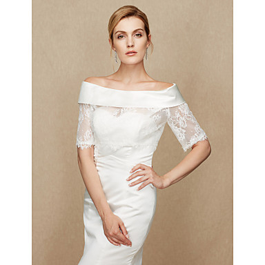 Lace / Satin Wedding / Party / Evening Women's Wrap With Lace Shrugs