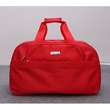 Women Travel Bag Polyester All Seasons Casual Outdoor Round Zipper Black Fuchsia Ruby
