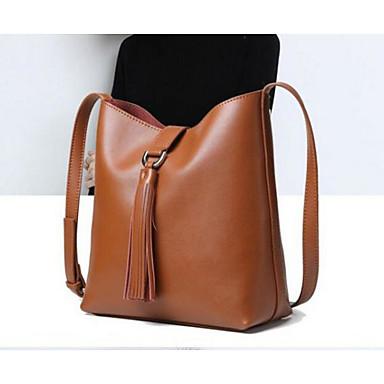 Women Bags All Seasons Cowhide Shoulder Bag for Casual Outdoor Green Black Brown Wine