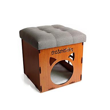 Cachorro Camas Animais de Estimação Cestos Sólido Quente Portátil Dobrável Respirável Macio Cinzento Azul Para animais de estimação