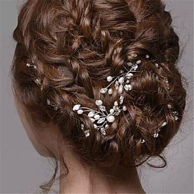 Imitation Pearl / Rhinestone Hair Pin with 1 Wedding / Special Occasion / Halloween Headpiece