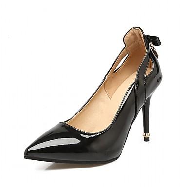 Mulheres Sapatos Couro Ecológico Sintético Verão Outono Inovador Conforto Saltos Caminhada Salto Agulha Dedo Apontado Laço para Casamento