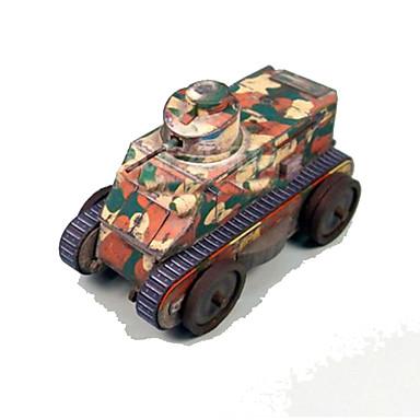Quebra-Cabeças 3D Maquetes de Papel Tanque Cartão de Papel Duro Crianças Unisexo Dom