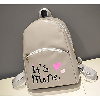 Women Bags All Seasons PU Backpack with for Casual White Black Gray
