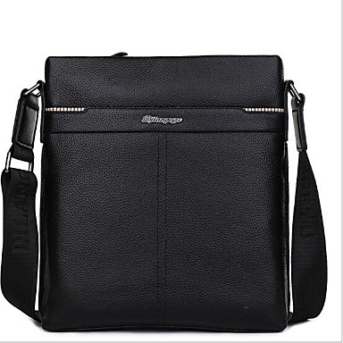 Men Bags All Seasons Cowhide Briefcase for Casual Outdoor Black