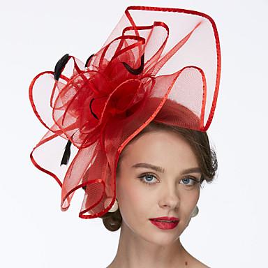 billige Hodeplagg til fest-Nett Kentucky Derby Hat / fascinators / Hatter med 1 Bryllup / Spesiell Leilighet Hodeplagg