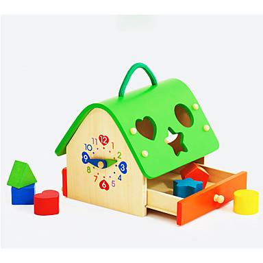 Blocos de Construir Jogos de Madeira Brinquedo Educativo Casa Legal Para Meninas Brinquedos Dom