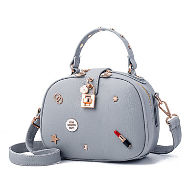 Women Shoulder Bag PU All Seasons Casual Baguette Zipper Blue Black Gray Yellow