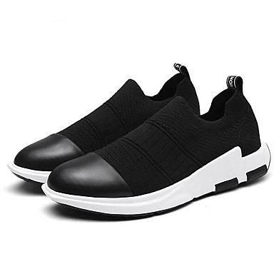 Men's Shoes PU Spring Fall Comfort Sneakers With For Casual Black Gray Red