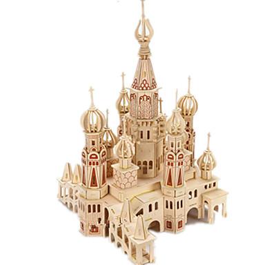voordelige 3D-puzzels-3D-puzzels / Legpuzzel / Modelbouwsets Kasteel / Beroemd gebouw / Huis DHZ Puinen Klassiek Kinderen Unisex Geschenk