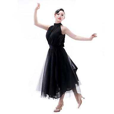 Latin tánc Női Teljesítmény Chinlon Szatén sifon Ujjatlan Felső