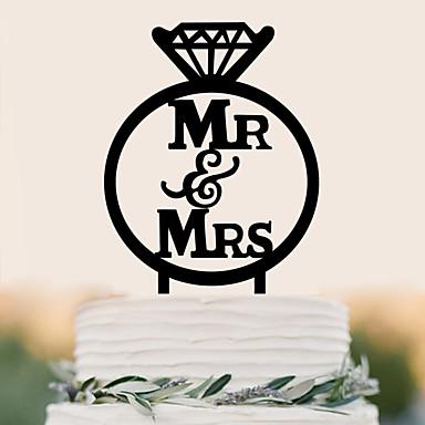 Cake Topper Wedding Birthday High Quality Plastic Wedding Birthday With PVC Bag