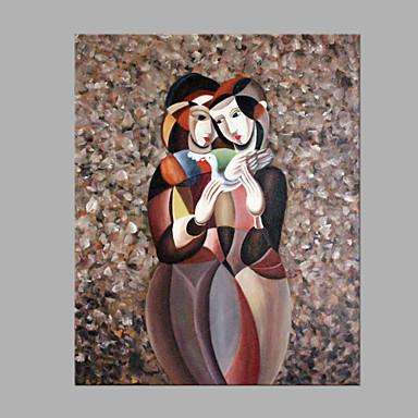Pintados à mão Pessoas Quadrada, Estilo Moderno Tela de pintura Pintura a Óleo Decoração para casa 1 Painel