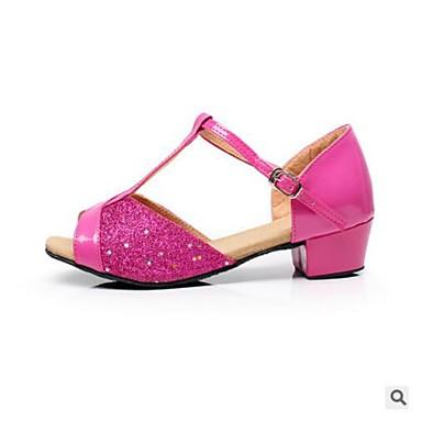 Women's Kids' Dance Shoes PU Heel Practice Red