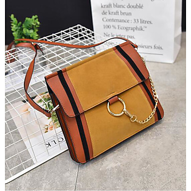 Women Bags All Seasons PU Shoulder Bag for Casual Outdoor Yellow Brown