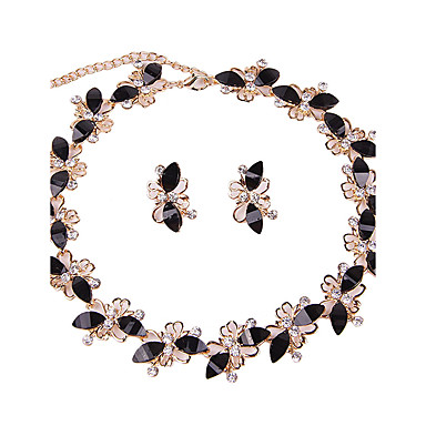 Women's Rhinestone Jewelry Set - Classic Vintage Euramerican Fashion Simple Style Taper Shape Black Jewelry Set Bridal Jewelry Sets