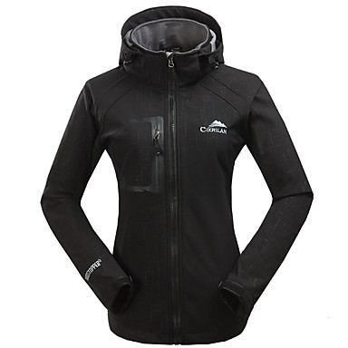Women's Hiking Softshell Jacket Outdoor Windproof, Breathable, Wearproof Top Skiing / Camping / Hiking / Fishing