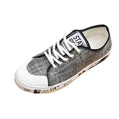 Homens sapatos Couro Ecológico Primavera Outono Conforto Tênis para Ao ar livre Branco Preto Khaki