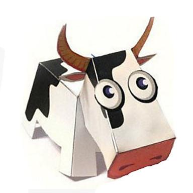 voordelige 3D-puzzels-3D-puzzels Bouwplaat Modelbouwsets Cow Dieren DHZ Hard Kaart Paper Klassiek Cartoon Kinderen Unisex Speeltjes Geschenk