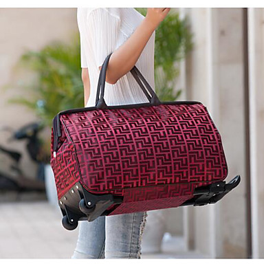 Unisex Tote Oxford Cloth Polyester All Seasons Casual Outdoor Rectangle Zipper Black Coffee Ruby