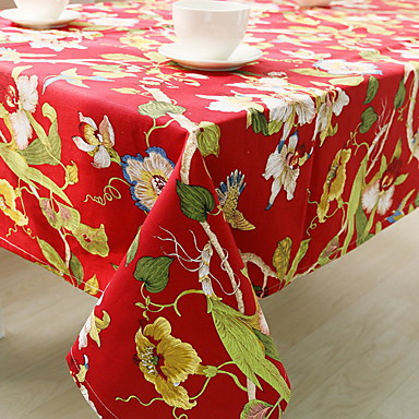 Cotton Blend Table cloths Printing Fashion Table Decorations 1 pcs