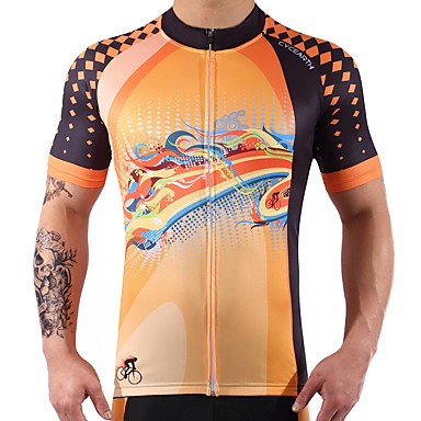 Short Sleeve Cycling Jersey Bike Quick Dry Spandex, 100% Polyester, Lycra