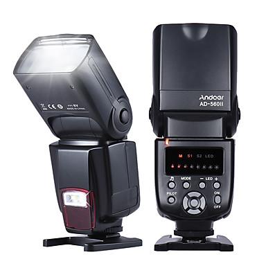 Andoer AD-560 Universal Flash Speedlite On-camera Flash GN50 w/ Adjustable LED Fill Light