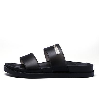 Men's Shoes PU Spring Summer Novelty Slippers & Flip-Flops For Casual Black Red Blue