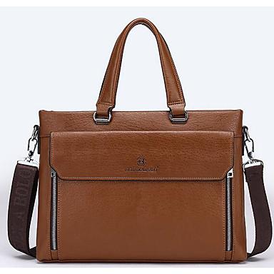 Men Bags All Seasons Cowhide Briefcase for Casual Outdoor Black Brown Dark Brown