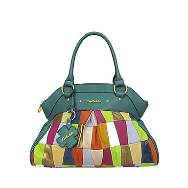 Women Bags All Seasons Cowhide Tote for Event/Party Casual Light Green
