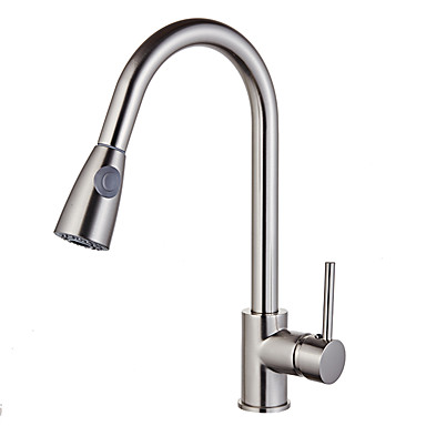 Kitchen faucet - Modern / Contemporary / Fashion Nickel Brushed Standard Spout Vessel / Brass