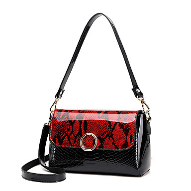 Women Bags PU Crossbody Bag for Wedding Event/Party Casual Formal Office & Career All Seasons Gold Black Red Gray Purple