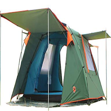 CAMEL 3-4 personer Telt Dobbelt camping Tent To Rom Familietelt Velventilert Vanntett Støvtett Sammenleggbar til Camping & Fjellvandring
