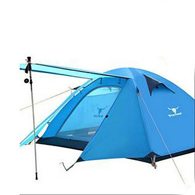 3-4 persons Tent Camping Tent Fold Tent Keep Warm Waterproof for Camping / Hiking Other Material CM