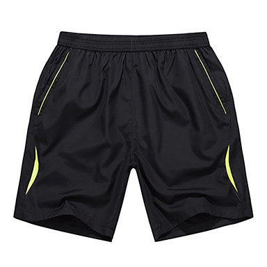 Men's Running Shorts - Yellow, Green Sports Shorts Exercise & Fitness, Running Casual / Daily Simple